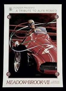 1991 Meadow Brook Historic Races VII ALFA ROMEO 158 KOKA Fine Art Poster