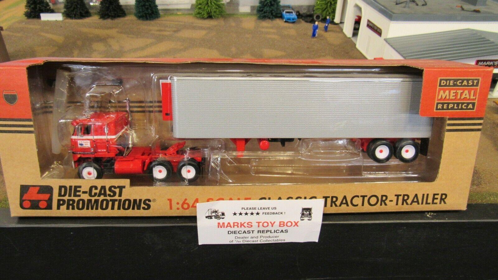 DCPC.R Inglaterra ih Transtar II semi camión Cab 40' Van Trailer 1 64 CL