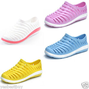 bd391eb384e1 Women Summer Beach Sandals Slip On Shoes Lady Rubber Candy Color ...