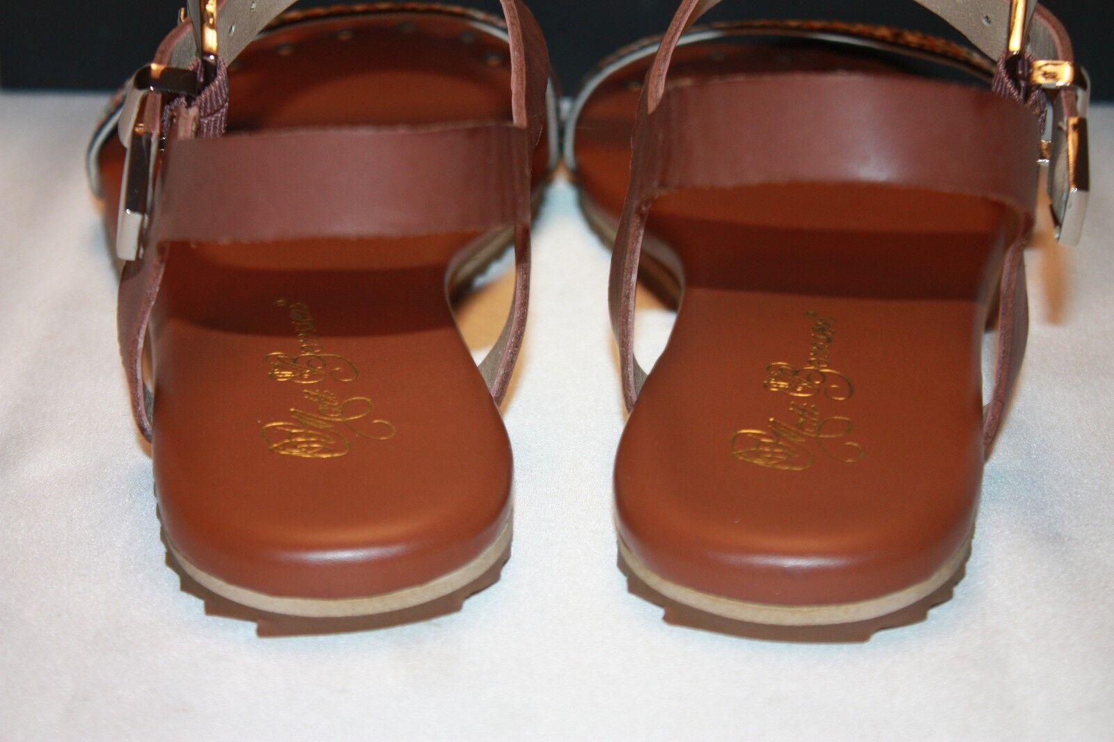 NEW  NIB  MATT BERNSON New York Cognac DJANGO Cognac York Leder Flat Sandale 9 10 156 60d72e