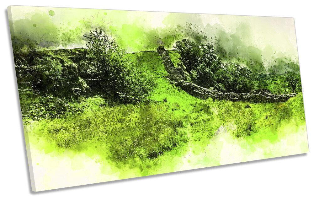 Hadrian's Wand Northumberland Bild PANORAMIC CANVAS Wand Kunst Drucken Grün