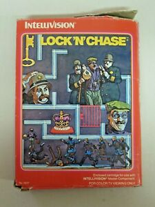 Vintage INTELLIVISION LOCK 'N' CHASE Video Game in Box with Booklets 1982