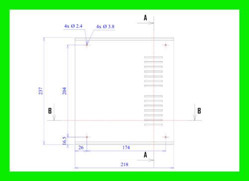 Universalgehäuse Leergehäuse Kunststoffgehäuse 218 x 237 x 92,5 ...Ge.40 ......