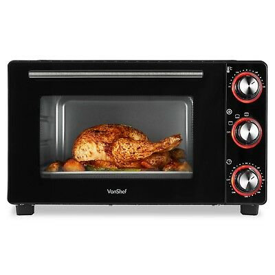 VonShef Mini Oven 28 Litre Cooker Grill Baking Cooking Roast Table Top Wire Rack