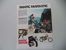 advertising Pubblicità 1975 MOTO FANTIC CABALLERO 125 RC