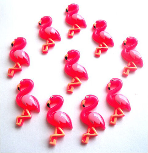 Hermosa Rosa Flamingo Flatback Adornos CABOUCHONS-Rápido Gratis P/&P