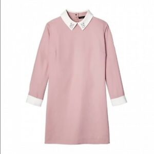 BRAND-NEW-Victoria-Beckham-for-Target-Women-039-s-Blush-Pink-Bunny-Collared-Dress