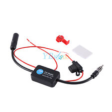 Universal 12V Car FM Radio Aerial Antenna Signal Reception Amp Amplifier Booster