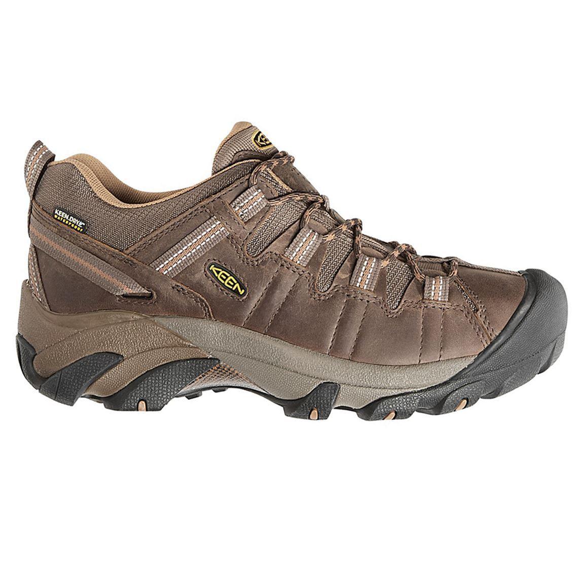 Keen Targhee II Waterproof Cascade Brown Brown Sugar Mens Leather Mesh Shoes