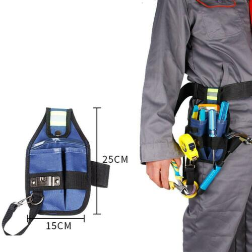 1PC Electrician Repairing Tool Storage Waist Bag Belt Style Work SH Pouch M4S2