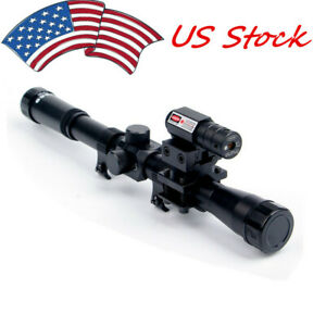 US-3in1-Red-Dot-Laser-Sight-Hunting-Scope-Crossbow-Optic-Sight-Rifle-Rail-Mount