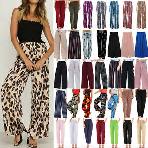 Womens-Wide-Leg-Pants-Casual-Loose-Yoga-Ladies-Long-Palazzo-Trousers-Plus-Size