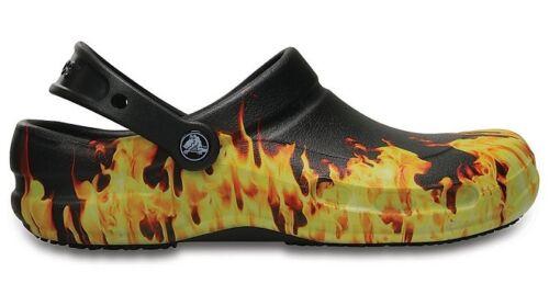 15 Slip-resistant NWT 11 Crocs Bistro Graphic Work Clog Flames  8