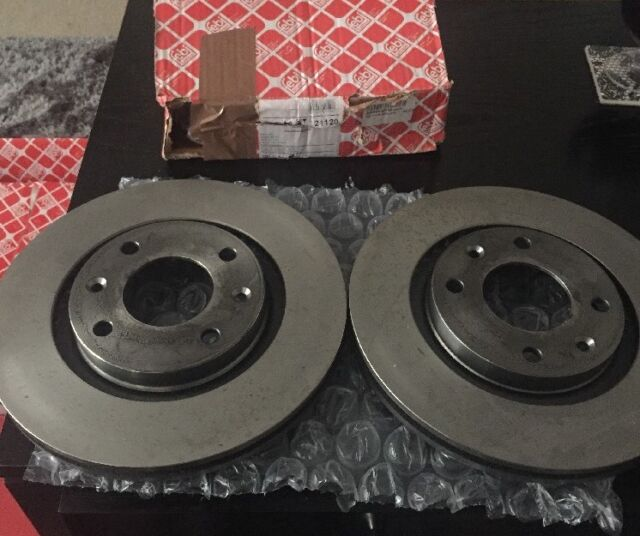 Genuine OE Quality Febi Front Vented Brake Disc /& Pad Kit