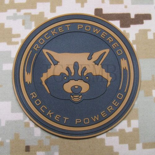 Guardians of the Galaxy Rocket Raccoon Powered 3D PVC Patch