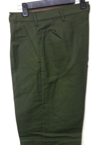 Vintage Swedish Dress Trouser twill gabardine Olive 3 pocket trouser