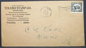 Toledo-Stamp-Company-US-Advertising-Cover-Harding-2c-1923-USA-Letter-Y-533