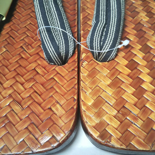 Japan Made Traditional Zori Setta Mens Sandals Takeami Bamboo Braided 26cm 3615