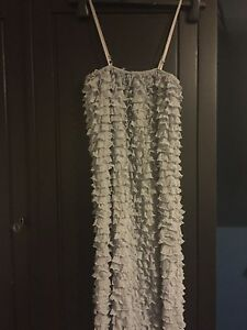 Size-12-frilled-grey-party-dress-new