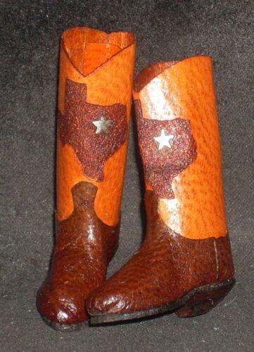 Boots Dollhouse Miniature Prestige Custom Western Texas Outline 1:12 Silver Star