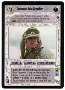 SWCCG Star Wars CCG • Commander Luke Skywalker Jedi • HOTH BLACK BORDERED