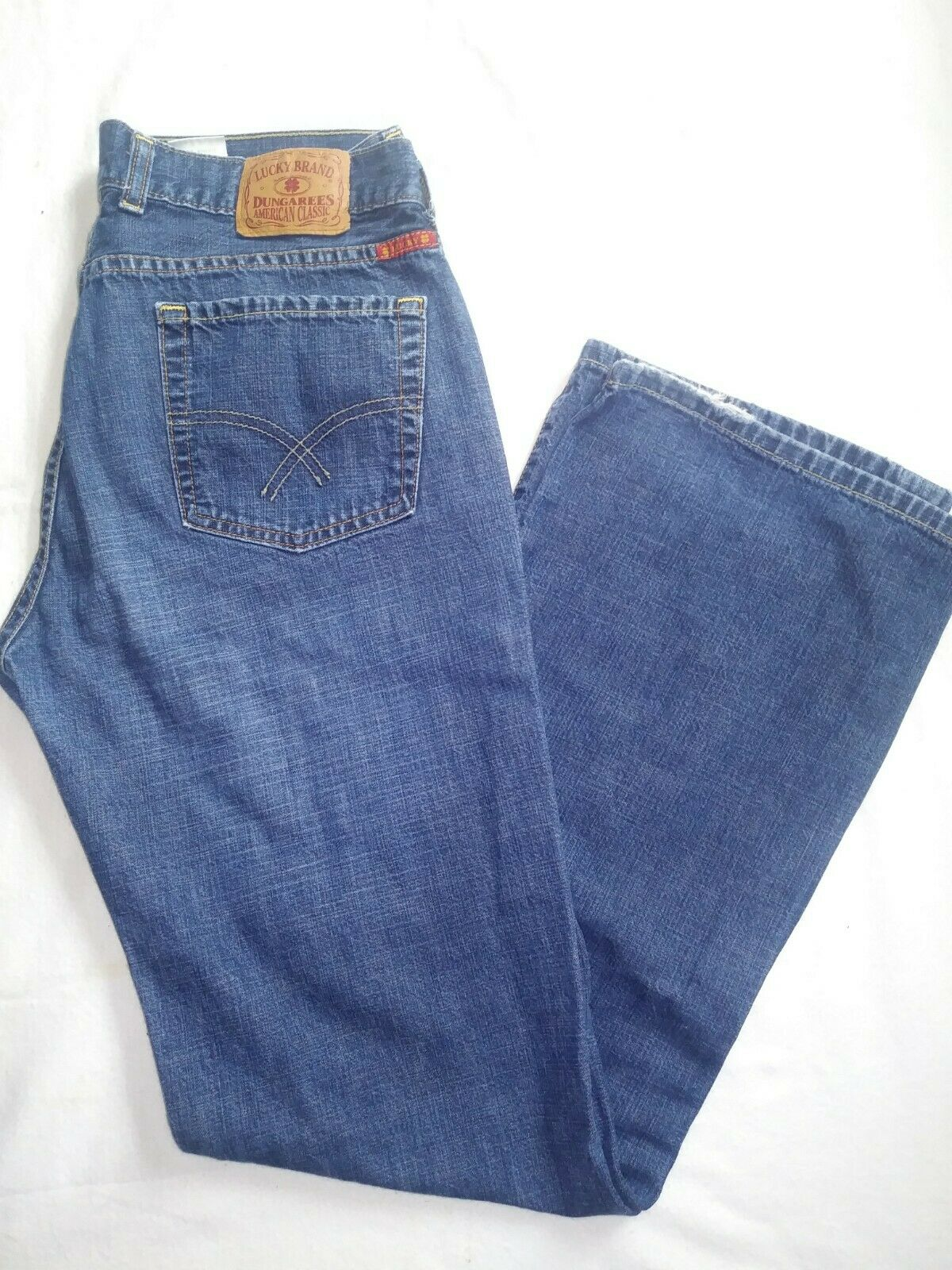 Women's Lucky Brand Dungarees Y2K Wide Leg Denim … - image 1