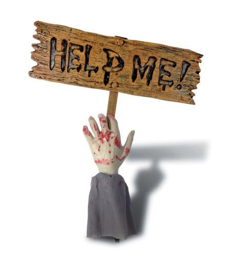 moi signe Halloween Zombie Bras Pelouse Jeu complet de vous aider
