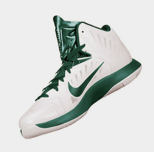 New Nike Men's Hyperquickness Basketball Shoe White Green 685778-130 Comfortable New shoes for men and women, limited time discount