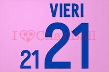 Vieri #21 World Cup 2002 Italy Awaykit Nameset Printing