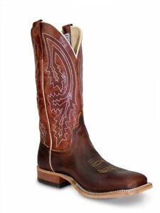 Bottes cowboy mexicaines à la main en cuir marron bicolores en cuir brun