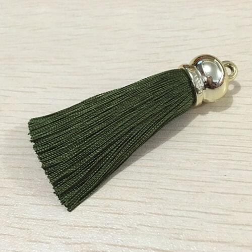 Women Girl Keyring Pendants Silk Comfort Tassel Keychain Jewelry Bag Purse Decor