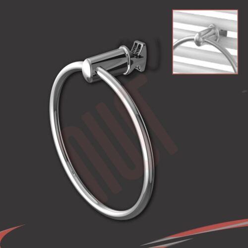 NWT CROMATO anello per asciugamani fissa direttamente al Riscaldato Portasciugamani accessori per bagno