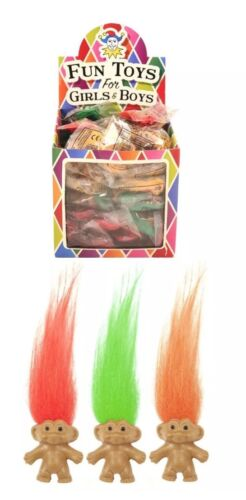 6x MINI TROLLS FOR CHILDREN/'S PARTY BAGS FUNKY COLOUR MIXTURES UK SELLER