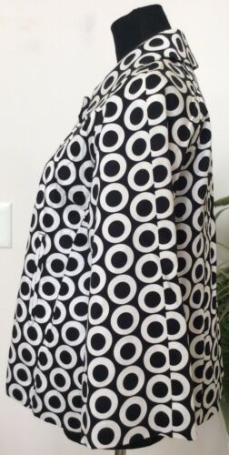 Euc bianco misto Taglia L Women's nero cotone in Blazer Carer Blazer Appraisal Pf8pwx