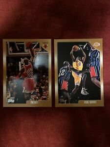 Lot-2-1998-99-Topps-Kobe-Bryant-3rd-Year-Lakers-Mj-Last-Dance-68-77-Invest