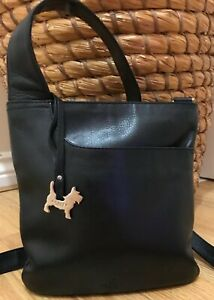 London vgc Negro Messenger Bag Cuero Body Radley Cross aECqnwxxU0