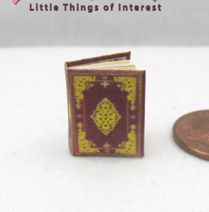 The Hours of Jeanne D/'Evreux Miniature Book Dollhouse 1:12 Scale BOOK OF HOURS
