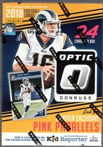 2018-Donruss-Optic-Football-NFL-Trading-Cards-Blaster-Box-Pink-Parallel