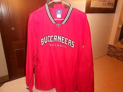 Football-nfl Sports Mem, Cards & Fan Shop Brand Nwot Nfl Tampa Bay Buccaneers Reebok Pullover Jacket Men's Size Large