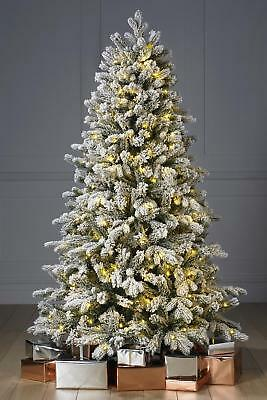 Pre Lit 5ft Led Warm White Christmas Tree Frosted Alaskan Pine Luxury Flocked 8448700043965 Ebay