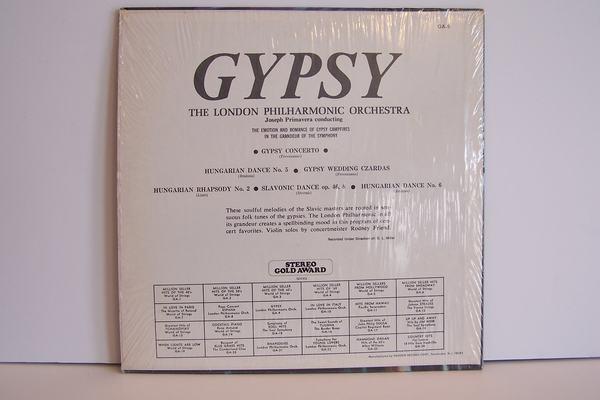 London Philharmonic Orchestra - Gypsy Vinyl LP Record A