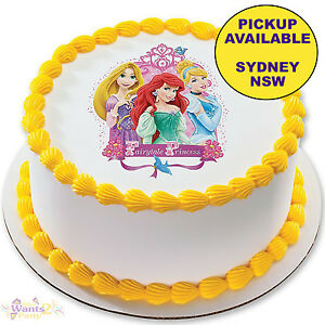 Image Is Loading DISNEY PRINCESS PARTY SUPPLIES BIRTHDAY CAKE IMAGE TOPPER