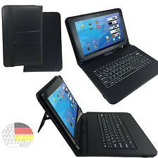 10.1 zoll Qwertz Tablet Tasche - Samsung Galaxy Tab A6 Hülle - Tastatur Schwarz