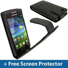 NERO FLIP CASE per Samsung Wave 3 Bada 2.0 S8600 COVER titolare PARAURTI