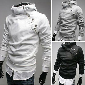 SALABLE-Mens-Slim-Designed-Sweater-Coat-Jacket-Hoodies-Sweats-Pullover-Size-S-XL
