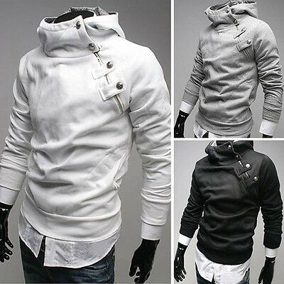 UK Mens Top Fashion Style Hoodies Coat Casual Sweat Hoody Jacket Outwear in S~XL