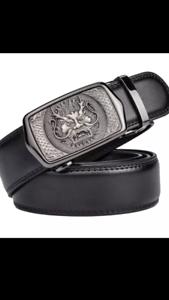 Homme en cuir ceintures pour hommes automatique homme Cliquet Auto Ceinture Nouveau Dragon ceintures