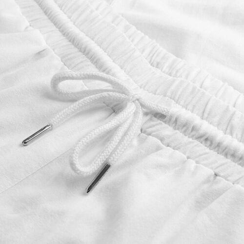 Men/'s Drawstring Trouser Cotton Linen Loose Pants Summer Casual Beachwear Slacks