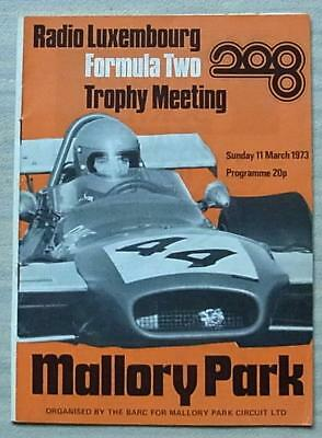 2019 Latest Design Mallory Park 11 Mar 1973 Formula Two Trophy Meeting Car Races Programme Relieving Heat And Sunstroke Sports Memorabilia