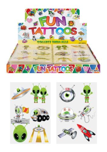 24 x Alien Aliens Temporary Tattoos Children/'s Birthday Party Bag Filler